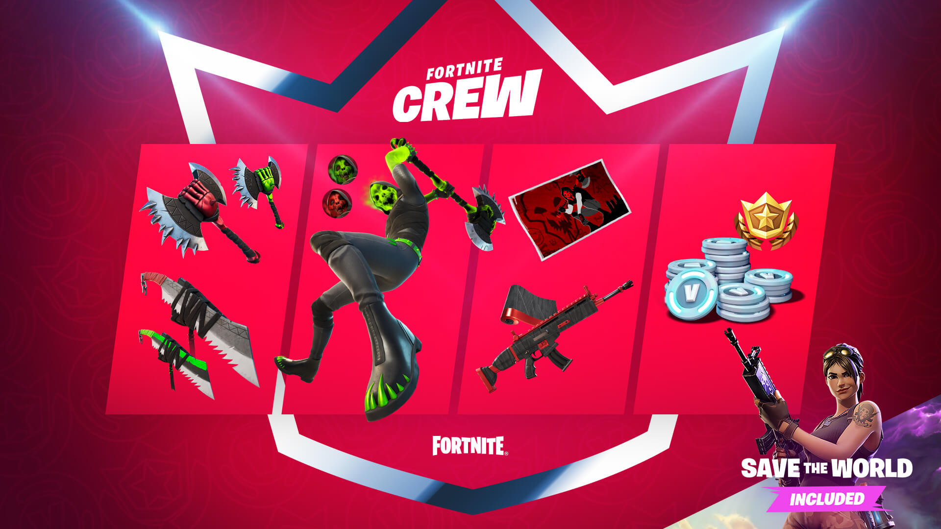 May 2021 Fortnite Crew Benefits