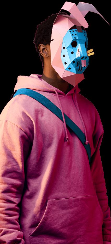 Máscara de Asaltante conejo