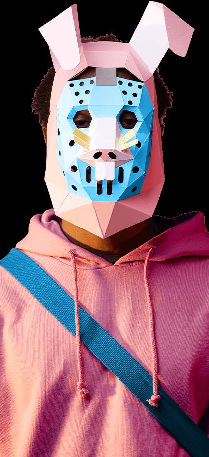 Descargar máscara de Asaltante conejo