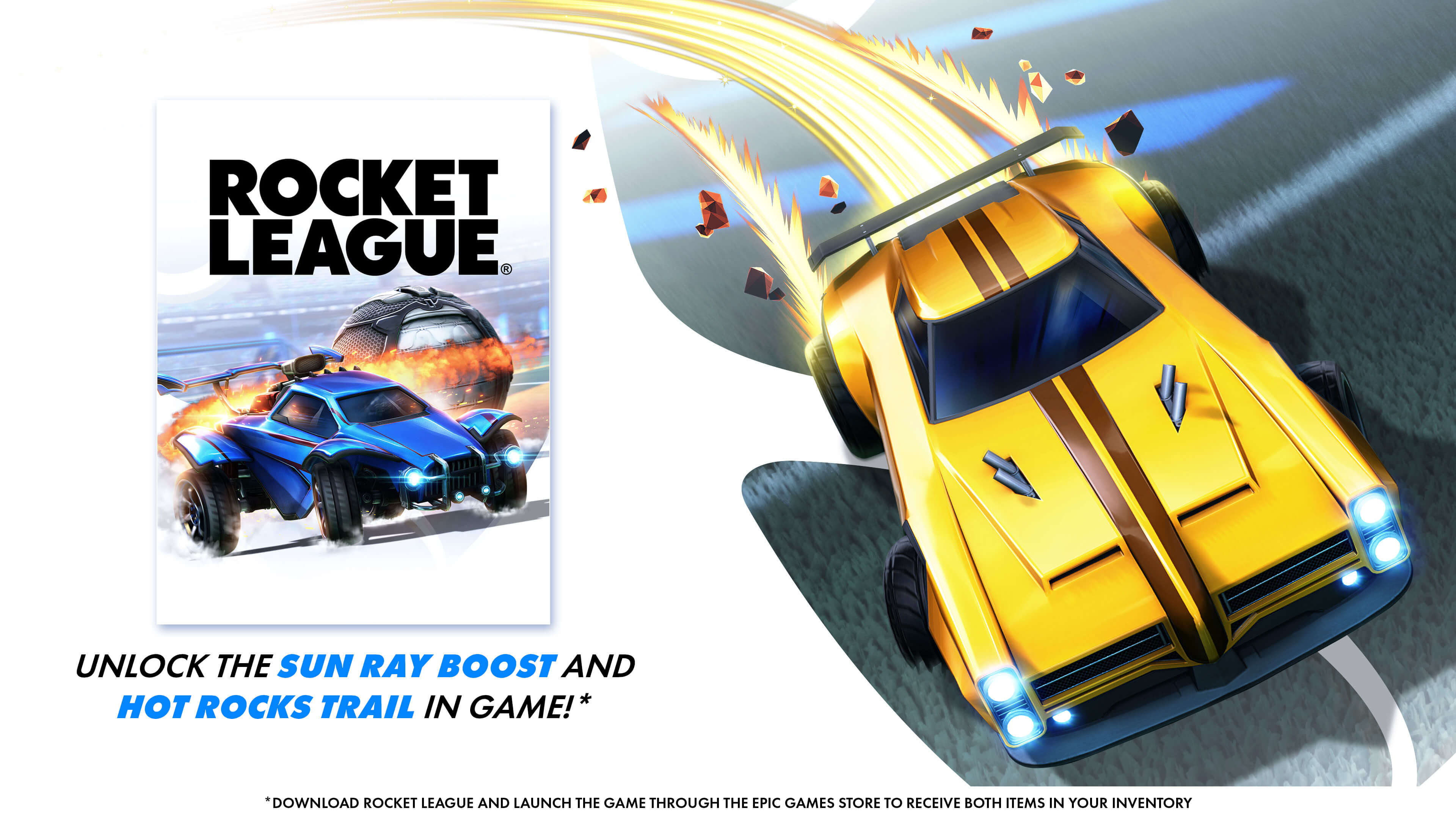 Rocket League Sun Ray Boost Hot Rocks Trail