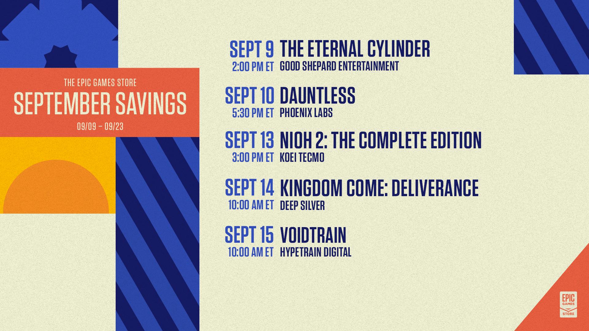 SeptSavings Twitch Week1 Schedule