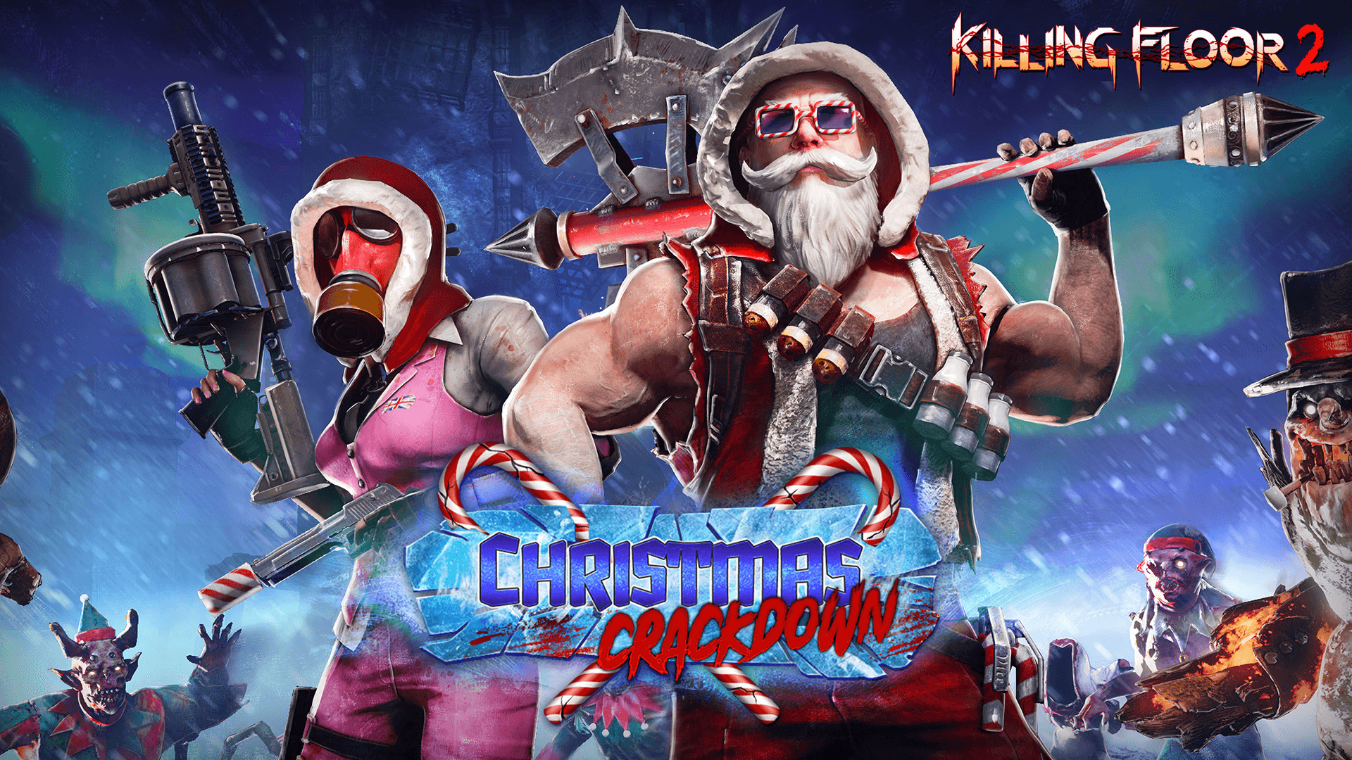 Kf2 Christmas 2021 Cosmetics Killing Floor 2 Christmas Crackdown Update Out Now On Egs