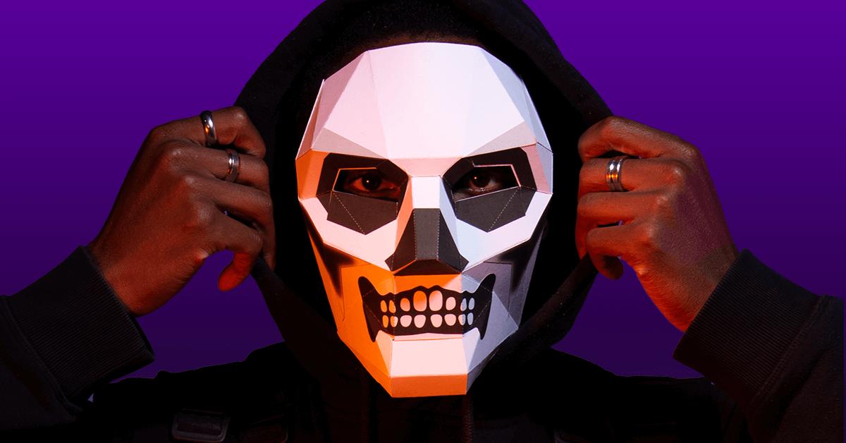 Máscara de Soldado calavera