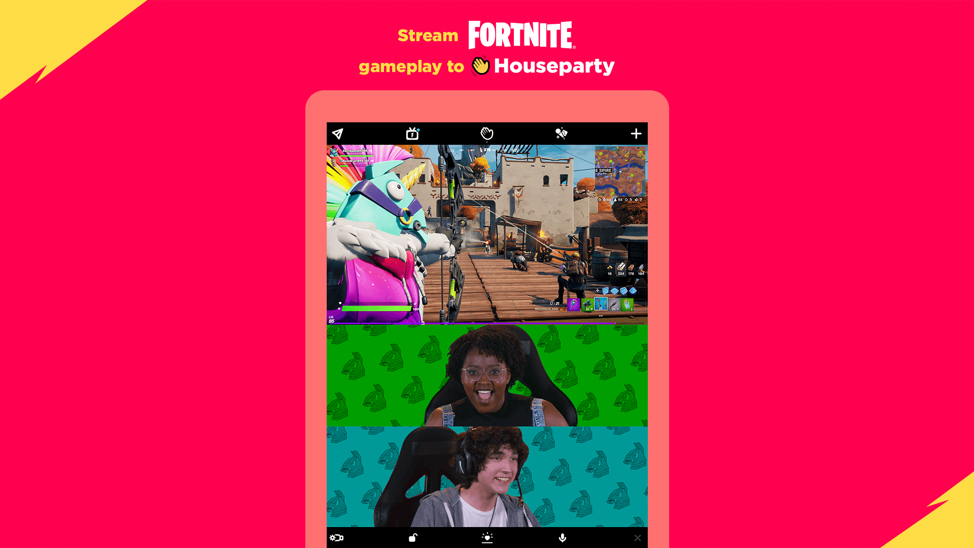 Stream Fortnite Gameplay To Houseparty