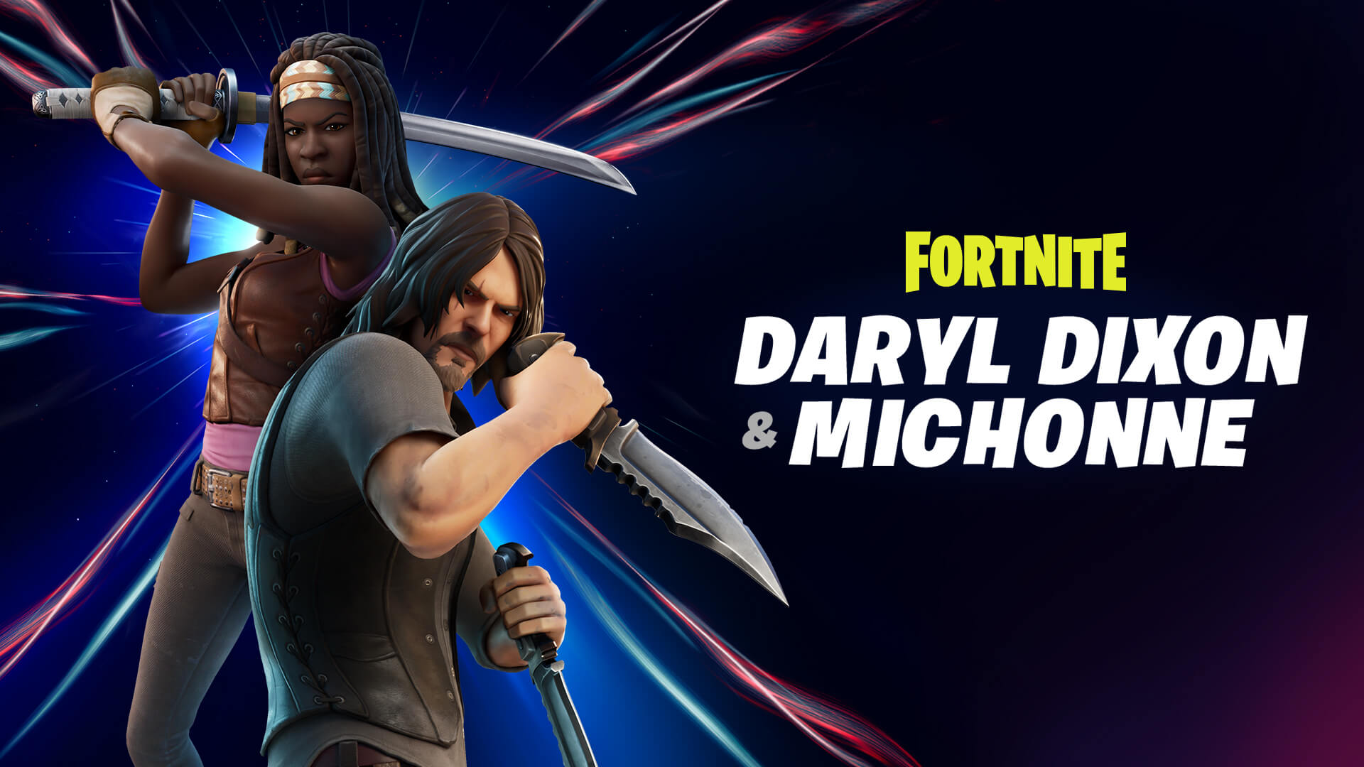 The Fortnite Daryl Dixon And Michonne Outfits