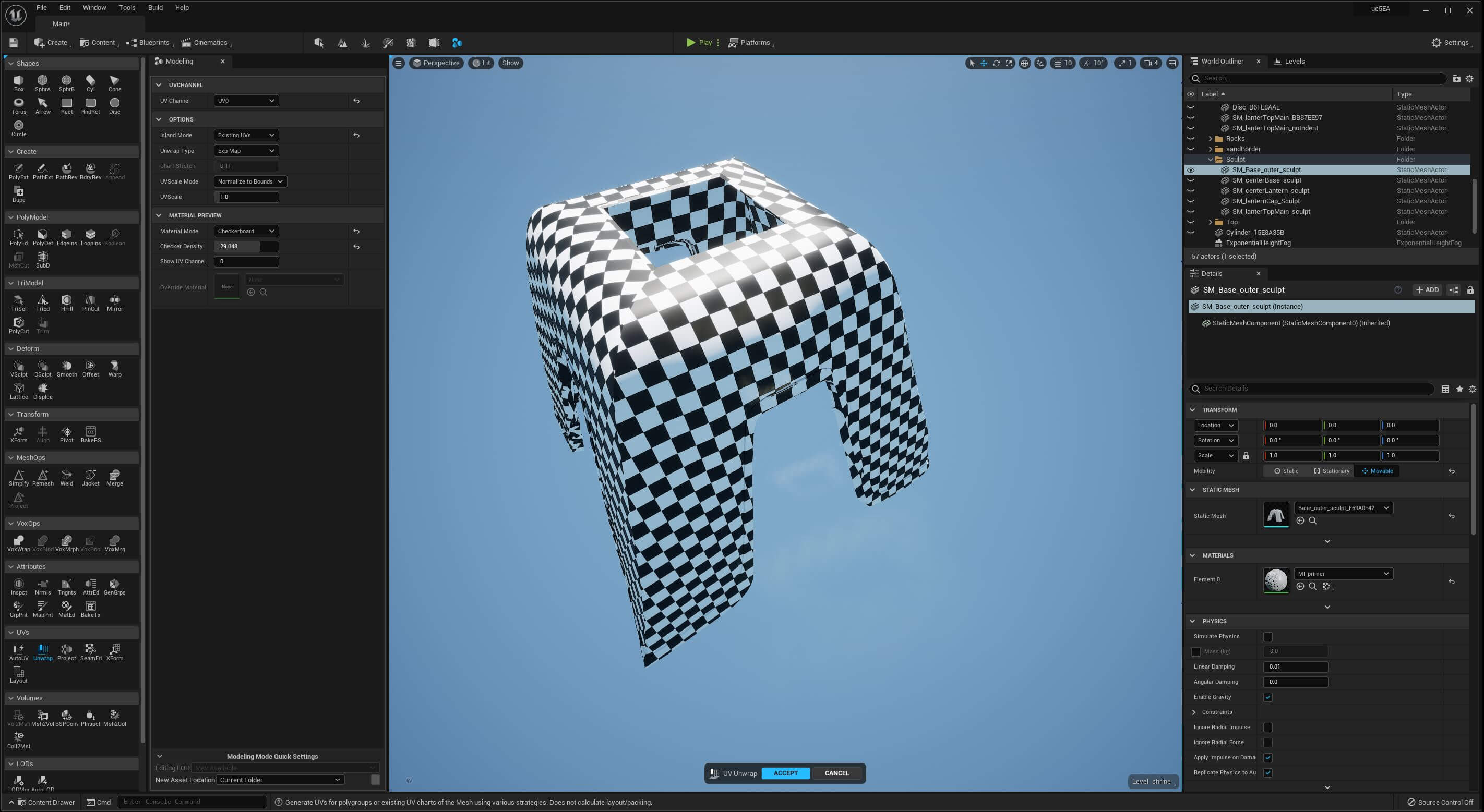 UE5 Modeling Mode TECH BLOG GrpUnwrap