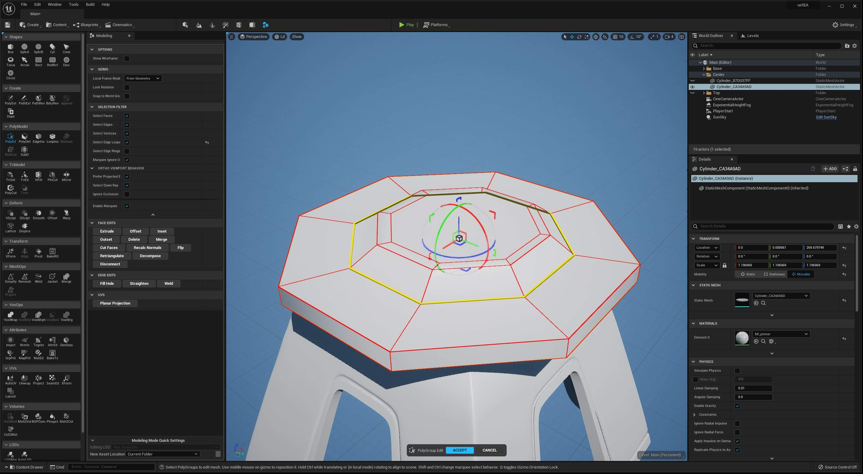 UE5 Modeling Mode TECH BLOG PolyEditA