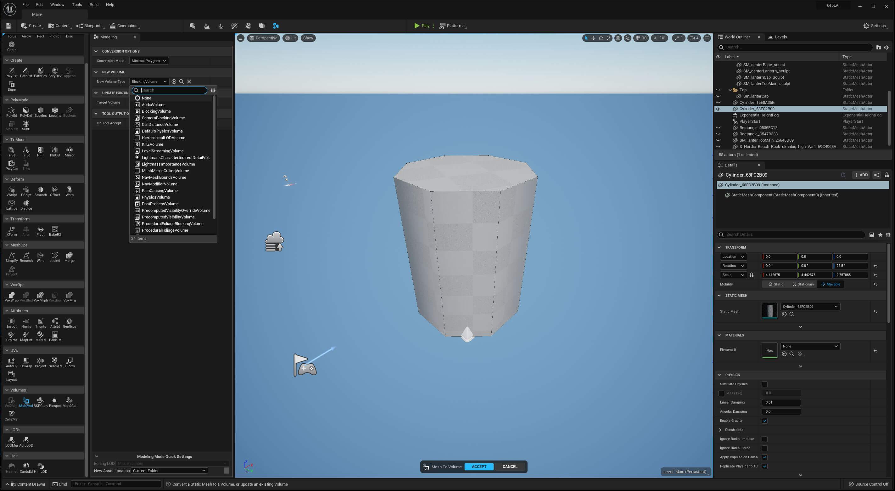 UE5 Modeling Mode TECH BLOG VolumeConvert