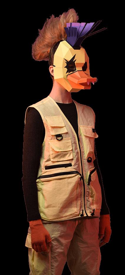 Máscara de Pato punk