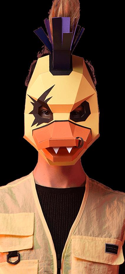 Descargar máscara de Pato punk